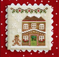 """Gingerbread House Five is the eighth release in Country Cottage Needleworks """"Gingerbread Village' series that is stitched with Classic Colorworks"""