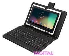 """Tagitalฎ 7"""" Android 4.2 4GB MID Capacitive Touch Screen A13 Tablet WiFi Dual Camera Bundle Keyboard White"""