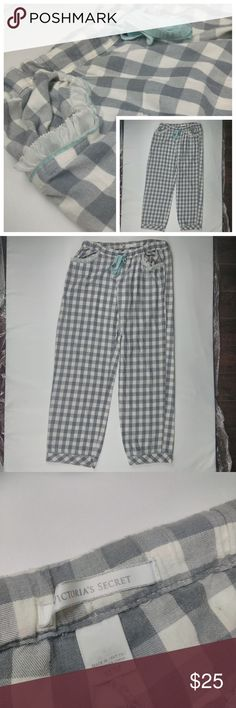 Victorias Secret pajama pants Medium Checker style Great Condition Victoria's Secret Lounge Pajama Pants. Size medium. With Checker Pattern Design. No rips, stains or holes.  Measurements:  Waist - 15 flat   Hip - 19 flat  Thigh - 12 flat   Rise - 12 flat  Leg Opening - 8 1/2 flat  Outseam - 38 1/2  inseam - 29 1/2 flat  - Bundle and save in my closet.  - I ship the same day depending on the time of purchase. Otherwise, the next day.  - I'm always open to any reasonable offers. Victoria's…
