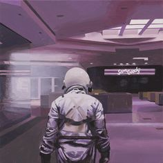 Scott Listfield paints astronauts and, sometimes, dinosaurs. Astronaut Suit, Where Did It Go, World Of Tomorrow, I Robot, Dwayne The Rock, Space Travel, Weird World, Geometric Designs
