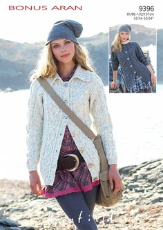 Cabled Jackets in Hayfield Bonus Aran - 9396 - Downloadable PDF. Discover more patterns by Hayfield at LoveKnitting. The world's largest range of knitting supplies - we stock patterns, yarn, needles and books from all of your favourite brands.
