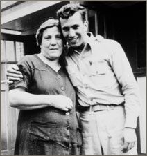 Corado 'Babe' Ciarlo and his mother, Olga, in Connecticut.  Read this wonderful essay recounting the story of Babe's letters to Olga.