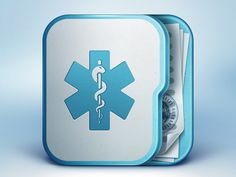 Dribbble - Medical-app-icon-design-ramotion.png by Ramotion