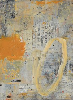 Street Sense by Kevin Tolman - acrylic, collage,mixed media on paper