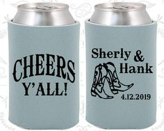 Cheers Yall Wedding Favors, Personalized Wedding Favors, Country Wedding Favors, Cowboy Boots,  Can Koozies (11)