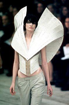 Erin O'Connor at Alexander McQueen Spring/Summer 1999.