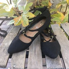 52e8ff040fd6 Beautiful Lacey black strapping shoes. Size is woman s 8. a - Depop Lacey  Black
