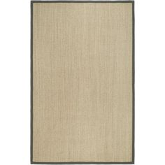 Update your home decor with a new rug. Area rug features a natural tiger eye pattern background with a grey border. Casual rug is hand-woven of natural sisal with a natural latex backing.