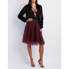 Charlotte Russe Tulle Full Midi Skirt ($16) ❤ liked on Polyvore featuring skirts, burgundy, high-waist skirt, burgundy midi skirt, burgundy skirt, tulle skirt and mid calf skirts