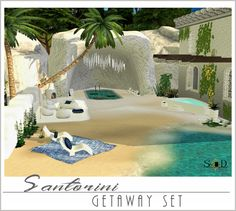 Santorini Getaway Set (new meshes) at – Sims 4 Designs via Sims 4 Updates Sims 4 Game Mods, Sims 4 Mods, My Sims, Sims Cc, Santorini, Sims Building, Sims 4 Clutter, Sims 4 Dresses, Sims 4 Cc Furniture