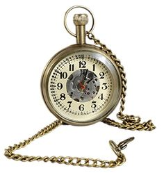 Numeral Brass Metal Mechanical Pocket Watch Open Face Design for Men Women Vintage - 4.6 CM RoyaltyLane http://www.amazon.co.uk/dp/B01C6XPG20/ref=cm_sw_r_pi_dp_ddO3wb0YA38HM