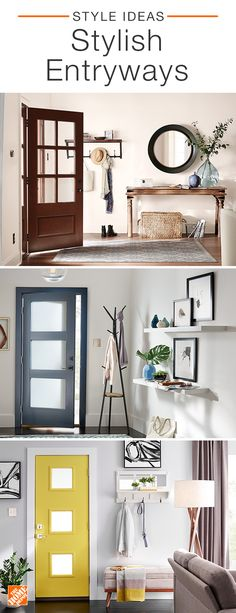 Spruce up your home for spring by creating a stunning entryway sure to leave a lasting impression. From mirrors and lighting to benches and storage, w… – Mudroom Interior Design Living Room, Living Room Decor, Bedroom Decor, Goth Bedroom, Blue Bedroom, Interior Livingroom, Design Bedroom, Kitchen Interior, Home Renovation