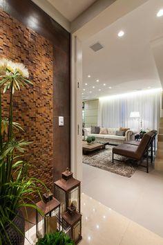 Apartamento ECB: Corredores, halls e escadas ecléticos por Thiago Mondini Arquitetura