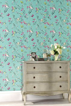 Buy Teal Birds Wallpaper online today at Next: Rep. of Ireland Next Wallpaper, Bird Wallpaper, Butterfly Wallpaper, Striped Wallpaper, Wallpaper Online, Bedroom Wallpaper, Cheap Wallpaper, Feature Wallpaper, Modern Wallpaper