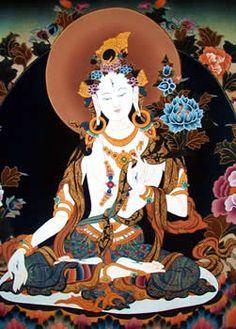 Tibetan Tara | The Tibetan Buddhist goddess Tara (hard to see, but she has eyes in ...