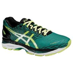 Asics Gel-Nimbus 18 Green Black Shoes 2016  Asics Gel-Nimbus 18 Red Black Shoes  Knock off the kilometres in the GEL-NIMBUS 18, the long-distance running shoe with huge amounts of cushioning. Whether it's a half-marathon or the whole thing, this lightweight shoe makes every stride more comfortable. #runningshoes #asics #retto