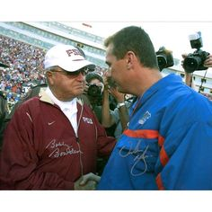 "Urban Meyer, Bowden Bobby Florida Gators/Florida State Seminoles Fanatics Authentic Autographed 16"" x 20"" Handshake Photograph - $199.99"