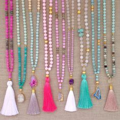 colorful tassel necklaces- S A L E - Love's Affect Summer Necklaces!
