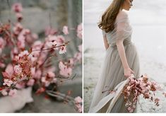 Coastal Cherry Blossom Inspirations by Vasia Han Photography Cherry Blossom Bouquet, Lilac Blossom, Cherry Blossom Wedding, Cherry Blossoms, Spring Photography, Fine Art Wedding Photography, Wedding Photography Inspiration, Unique Wedding Colors, Wedding Color Pallet