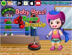 Choose from an awesome collection of sportswear and accessories to dress up Baby Hazel for her boxing classes http://www.topbabygames.com/baby-hazel-boxer-dressup.html