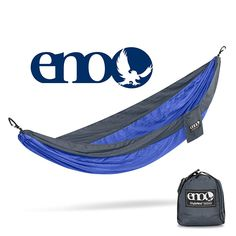 ENO Eagles Nest Outfitters - SingleNest Hammock, Portable Hammock for One, Portable Hammock for One, Charcoal/Royal Eno Hammock, Hammocks, Best Camping Hammock, Portable Hammock, Emo, Hammock With Mosquito Net, Camping Tours