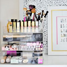 Luxury cosmetics NARS, YSL and more in acrylic organizer