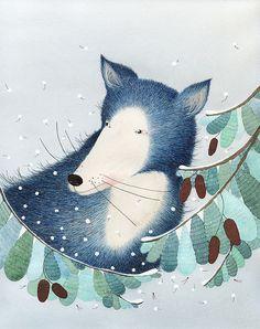 Childrens illustration // winter