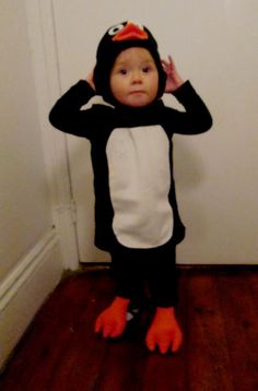 Child's Penguin Costume by MamaLunaDesigns on Etsy, $40.00