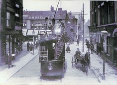 Pictures of Bolton town centre from around 1880 to the present day. Also a walk along the Croal (Middlebrook) from Red Moss through the town to Nob End, and a description and history of Daubhill Bolton Lancashire, Old Building, English Style, Preston, Small Towns, Old Town, Old Photos, One Pic, Past