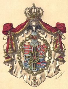 Coat of Arms of Archduke Wilhelm of Austria-Teschen Grand Master of the Teutonic Order, by Hugo Gerard Ströhl. Asian History, British History, Historical Women, Historical Photos, Strange History, History Facts, Austrian Empire, King Henry Viii, Holy Roman Empire