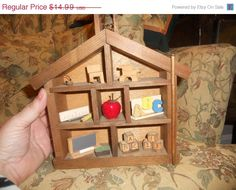 Christmas sale now on School house shadow box full of by EMTWTT, $13.04