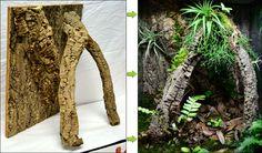 Example Of Custom Background For Gecko Vivarium Terrariums Diy, Fish Tank Terrarium, Gecko Terrarium, Aquarium Terrarium, Planted Aquarium, Reptile Room, Reptile Cage, Reptile Enclosure, Crested Gecko Vivarium