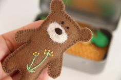 This item is unavailable Teddy Bear Crafts, Teddy Bear Toys, Sewing Toys, Sewing Crafts, Ideas Emprendedoras, Tiny Teddies, Homemade Art, Felt Material, Baby Sewing Projects