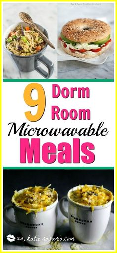 Dorm Room Snacks Recipes-#Dorm #Room #Snacks #Recipes Please Click Link To Find More Reference,,, ENJOY!! Healthy Dorm Snacks, Healthy Microwave Meals, Healthy College Meals, Healthy Meals, College Food Recipes, Microwave Food, Recipes For College Students, Protein Snacks, Healthy Breakfasts