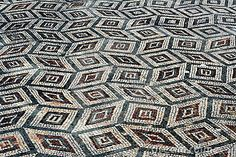 Ancient Roman Floor -  opus tessellatum, the dice are square and all of the same size.
