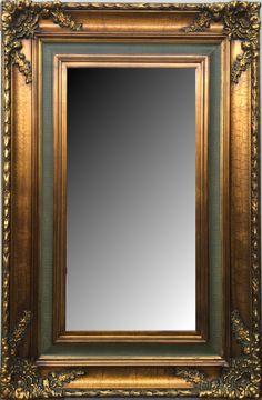 Espejo biselado estilo clásico con marco en madera. Modelo: 9388G. Medidas y precios disponibles en nuestra tienda online.