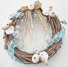 beach christmas wreath - Google Search