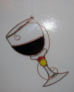 Wine Glass in Stained Glass shipped free in by Avalonstainedglass