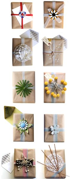 and if the brown paper bags i'm saving to use for christmas presents appear to dull...i can try something like this :)
