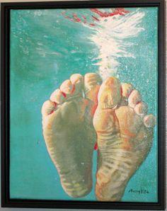 Wrinkly water feet www.maryrosefitzpatrick.com