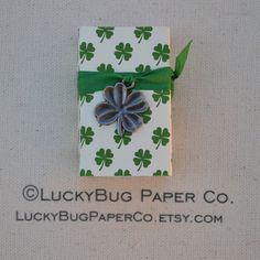 Lucky IRISH Message Box by LuckyBugPaperCo on Etsy, $10.50