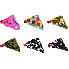 Ztl 6pcs/Set Adjustable Dog Bandana Triangle Bibs Scarfs for Pet Cats >>> You can find out more details at the link of the image.-It is an affiliate link to Amazon.