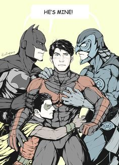 The fight over Nightwing. Dick Grayson