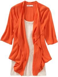 Old navy orange cardigan Orange Cardigan, Cropped Cardigan, Navy Cardigan, Coral, Mom Outfits, Fall Outfits, Business Dresses, Couture, Maternity Wear
