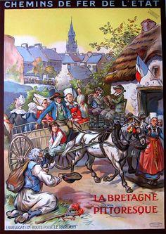 """La Bretagne Pittoresque, Huelgoat"" – 1925  Finistère Bretagne"