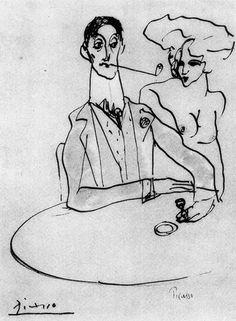 Pablo Picasso, Angel Fernandez de Soto at a Cafe, 1903