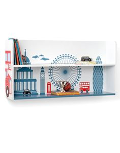 "Lovely children's bookshelf - could be a wall-mounted ""dollhouse"" playspace"