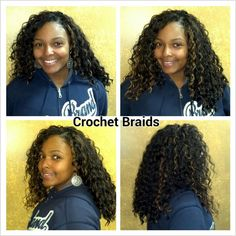 Crochet Braids. (Never had them done but this could be a good style to give my hair a break).