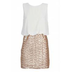 TFNC MICHELLE BLOUSON TOP SEQUIN DRESS | TFNC PARTY DRESSES