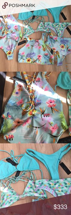 Lali and layla collection All new with tags sizes xs to large tags: midori jolyn acacia sold: Ariel top in icy blue Jolyn Clothing Swim Bikinis